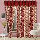 Cortina Fancy Precious 404 9Ft Curtain,  maroon