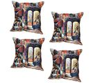 meSleep Coushion Covers Digital Gallery of America (Set of 4), multicolor