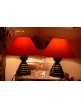 Yashasvi Combo Of Red & Orange Lamp