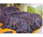 welhouse india Cotton Abstract Design Double BedSheet With 2 Pillow Cover, purple