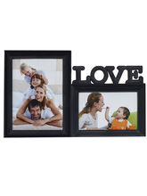 Black Shade 2 Pictures Collage Photo Frame, black