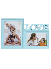 Sky Blue 2 Pictures Collage Photo Frame, blue