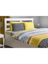 House This Urban 1 Double Bed Sheet & 2 Pillow Covers, yellow