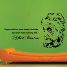 Creative Width Albert Einstein Wall Decal, multicolor, large