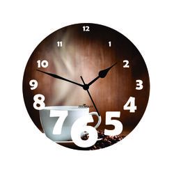 Brewing Coffee Wall Clock