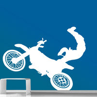 Creative Width Risky Moto Wall Decal, multicolor, large