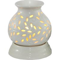 Brahmz Aroma Oil Burner Ancient Pot Electric, ivory