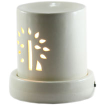 Brahmz Aroma Oil Burner Electric Baby Pipe, ivory