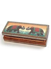 Real Gem Stone Jewellery Box-009(Multicolor)