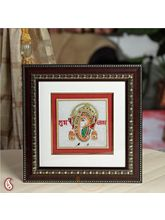 Gold Painted Lord Ganesh Hanging (Multicolor)