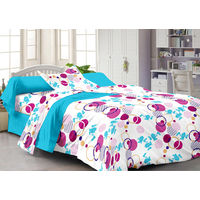 Story At Home Fantasy 1 Single Bedsheet With 1 Pillow Cover,  white