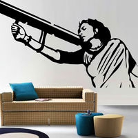 Creative Width Mother India Wall Decal, multicolor, medium