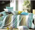 Welhouse India Stripped Print Double Bed Sheet With 2 Pillow Cover, multicolor