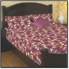 Godrej Interio Radical Neutrality Double Bedsheet - Tetris Plum, multicolor