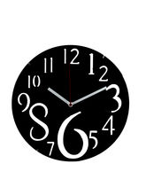 Dashing Black Huge Numeral Wall Clock, black