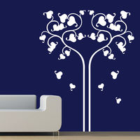 Creative Width Love Reflects Wall Decal, multicolor, small