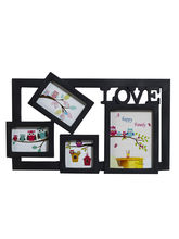 Beautiful 4 Pictures Collage Photo Frame, black