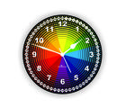 Rainbow Colors Wall Clock