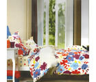 Aapno Rajasthan Cotton Double Bedsheet with Bold Floral Print, multicolor