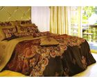 Welhouse India Polycotton Damask Design 4pcs Bedding Set, multicolor