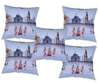 Me Sleep Set Of 5 Digital Cushion Cover Of Indian Tradition (Multicolor)