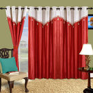 Cortina Plain Drape 9Ft Curtain,  maroon