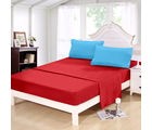 Story At Home 152 TC Pure Cotton Double Bedsheet With 2 Pillow Cover, ruby