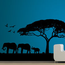 Creative Width Morning Tree Wall Decal, multicolor, large