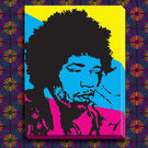 Engrave Jimi Hendrix Canvas, multicolor