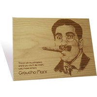 Engrave Groucho Marx Plaque, multicolor