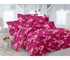 Valtellina Floral Design Double Bedsheet With 2 Pillow Cover (TC-140), pink
