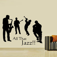 Creative Width All That Jazz Wall Decal, multicolor, large