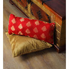 Rang Desi_ Rang Desi_ Blue Golden Motifs Brocade Cushion Cover With Fillers,  blue