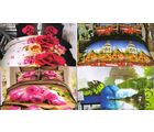 Welhouse India Super Spreads - Pack Of 4 Digital Printed Bedsheets, multicolor