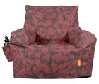 Orka Digital Printed Arm Chair Filled with Beans, red and black, xxl