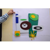 Panache Decorative Wall Clock Pan015, multicolor
