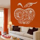 Creative Width Apple Wall Decal, multicolor, large