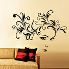 Creative Width Beautiful Eyes Wall Decal, multicolor, small