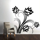 Creative Width Lotus Flowers Wall Decal, multicolor, large