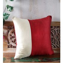 Rang Desi_ Raw Silk Cushion Covers,  maroon