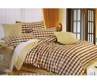 Welhouse India Checks Fitted Double Bed Sheet with 2 Pillow covers, white