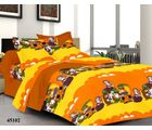 Welhouse India Mango Cartoons Double Bed Sheet With 2 Pillow Covers, yellow