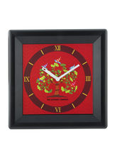 The Elephant Company Gond Tree Modern Wall Clock, multicolor