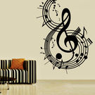 Creative Width Music Notes Wall Decal, multicolor, small