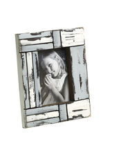 Aapno Rajasthan White and Blue Matte contour Wooden Photo Frame