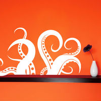 Creative Width Octopus Legs Wall Decal, multicolor, small
