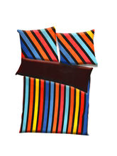 Aapno Rajasthan Polyester Striped Print Double Bed AC Quilt, multicolor