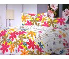 Welhouse India Floral Print Double Bed Sheet With 2 Pillow Cover, multicolor