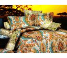 Welhouse India Graphic Print Double Bed Sheet With 2 Pillow Cover, multicolor