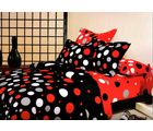 Welhouse India Polycotton Circle Design 4pcs Bedding Set, multicolor